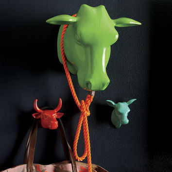 cow head wall mounted coat rack