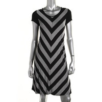 Kensie Womens Heathered Chevron Casual Dress