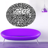 Wall Decals Vinyl Decal Sticker Murals Wild Animal Cheetah Leopard Love KG781