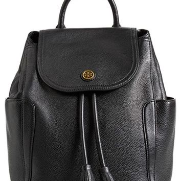 Tory Burch 'Frances' Leather Flap Backpack