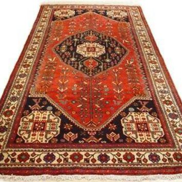 Red Qashqai Large Runner Persian Genuine Handmade Rug 5 x 10 Original Rug