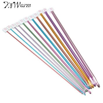 11Pcs set 10.6'' Multicolour Aluminum Tunisian Afghan Crochet Hook Knit Needles 2-8mm DIY Handcraft Tools Material Accessories