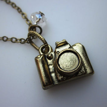 3D Camera Charm necklace