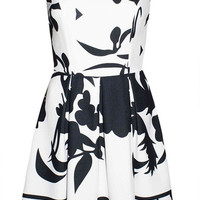 Repetition Black & White Dress