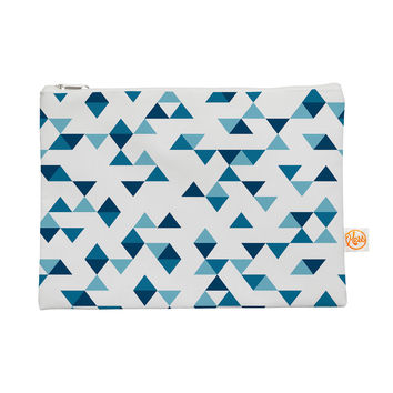 """Project M """"Triangles Blue"""" Navy White Everything Bag"""