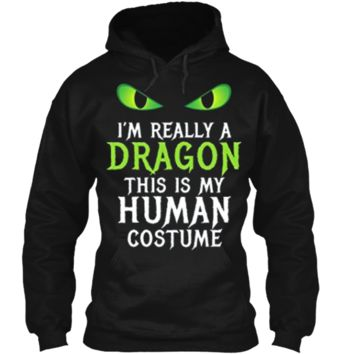 Funny Scary Dragon Costume Halloween  for Women Men Boy Pullover Hoodie 8 oz