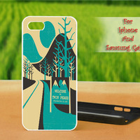 Welcome To Twin Peaks - Print on hard plastic case for iPhone case, Samsung Galaxy case and iPod case. Select an option