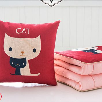 Pillow quilt dual-purpose office nap pillow multifunctional pillow is folded blanket car cushion pillow air conditioning was
