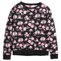 Sweatshirt with Printed Design - from H&M