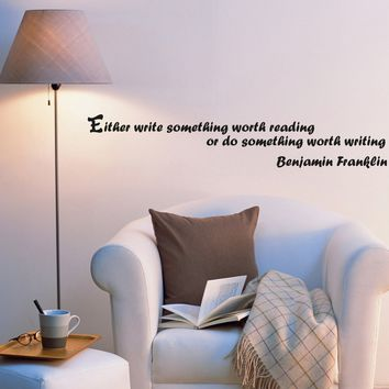 Wall Decal Mirror Sign Lettering Wise Famous Words Vinyl Sticker (ed1065) (22.5 in X 4 in)