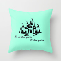 It's Not Where You Live... Throw Pillow by Jaclyn Celeste
