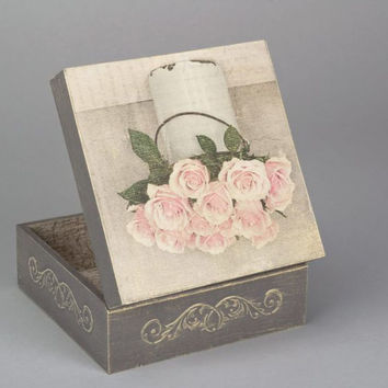 Jewelry handmade decoupage box made aˆ‹aˆ‹of