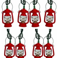 Vintage Red Lantern Party String Lights