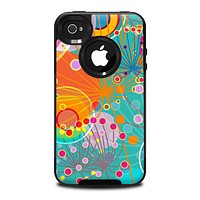 The Vibrant Colored Sprouting Shapes Skin for the iPhone 4-4s OtterBox Commuter Case
