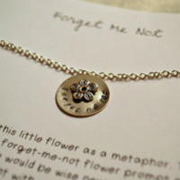 forget me not | hand-stamped necklaces
