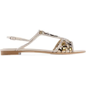 Rene Caovilla Embellished Sandals