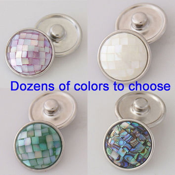 OEM Changeable dozen of colors 18mm shell ginger snaps button fit ginger snaps jewelry KB2801