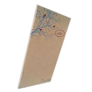 Berry Branch Birds Notes Notepad on Kraft Paper