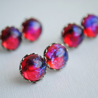 Dragon's Breath Earrings -- Fire Opal -- Mexican Opal -- Opal Earrings -- Stone Jewelry