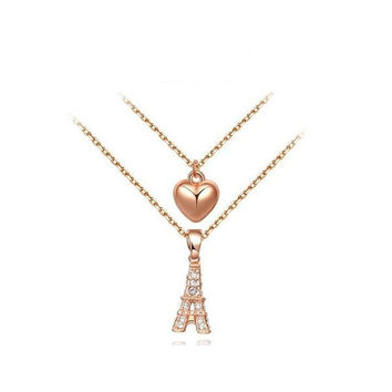 New Arrival Shiny Gift Stylish Alloy Ladies Crystal Jewelry Necklace [9281913924]
