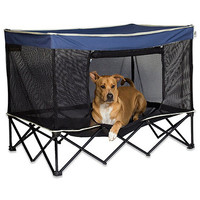 Quik Shade Large Instant Pet Kennel in Navy