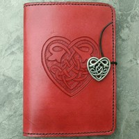 Handmade Red Celtic Heart Kindle Cover | lindasgarden - Leather Craft on ArtFire