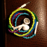 Apple iPod multicolor no tangle ear buds for by Useless2Unique
