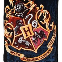Harry Potter Hogwarts Crest Comfy Throw - 195635
