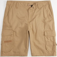 Subculture Mens Ripstop Cargo Shorts Vintage Khaki  In Sizes