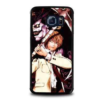 death note ryuk and light samsung galaxy s6 edge case cover  number 1