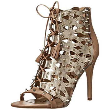 Sam Edelman Womens Allison Spiked Cut-Out Open-Toe Heels