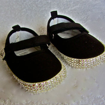 Swarovski Crystal Baby Mary Jane Shoes by RochelleAlysia on Etsy