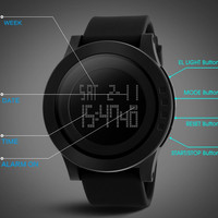 S SHOCK 2016 New SKMEI Luxury Brand Fashion Men Military Sports Watches Waterproof LED Date Silicone Digital Watch For Men High