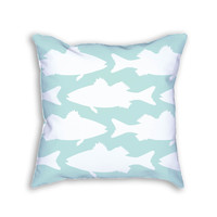 Mint Sea Bass Fish Decorative Throw Pillow