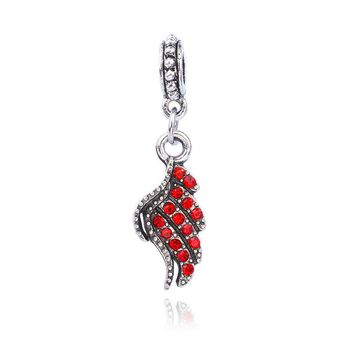 Angel Wing Jeweled Fashion Pendant