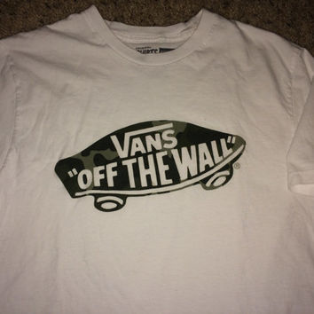 Sale!! Vintage VANS off the wall skull T shirt street wear tee