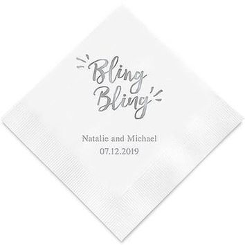 Bling Bling Printed Paper Napkins (Sets of 80-100)