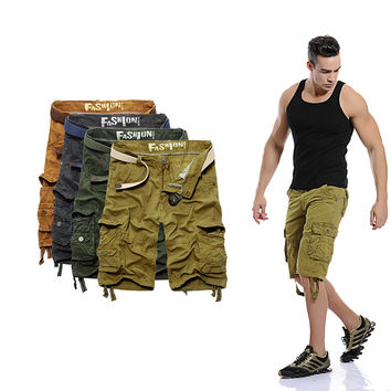 Mens Thick Cargo Shorts