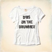 Dibs on the Drummer Shine Graphic T-Shirt