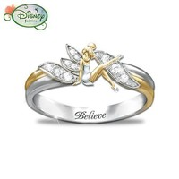 """Embrace The Magic"" Tinker Bell Ring by The Bradford Exchange"