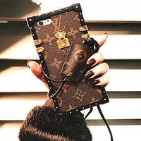 LV Hot Deal I Phone Matte Couple Phone Case For iphone 7 6plus 7 plus