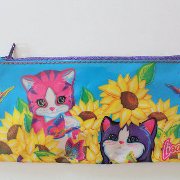 Vintage Lisa Frank Zippered Pencil Pouch 1990s