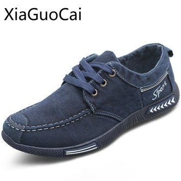 Brand Lightweight Plimsolls Men Casual Shoes Denim New Male Canvas Shoes Solid Rubber Lace-up Sneakers Drop Shipping W11 35