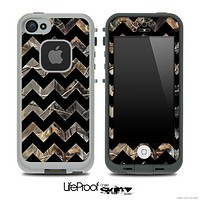 Real Camo and Black V6 Chevron Pattern Skin for the iPhone 5 or 4/4s LifeProof Case