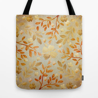Golden Autumn Tote Bag by Lisa Argyropoulos