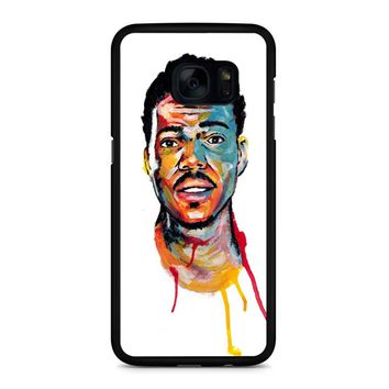 Acrylic Painting Of Chance The Rapper Samsung Galaxy S7 Edge Case