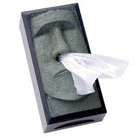Tiki Head Tissue Box Cover - Green Face with Black Sides: Home & Kitchen