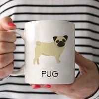 Pug Coffee Mug - Pug Ceramic Mug  - Pug Mug - Dog Mug - Gift for Coffee Lovers - Pug Lover Gift - Pug Crazy Mug - Pug Gift - Pug lover mug