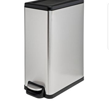 45L Rectangle Step Trash Can - Stainless Steel - Room Essentials