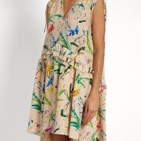 Bird-print silk-crepe dress | No. 21 | MATCHESFASHION.COM US